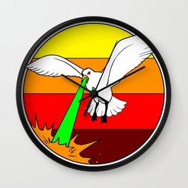 Laser Seagull Funny Retro Seagull Design Wall Clock