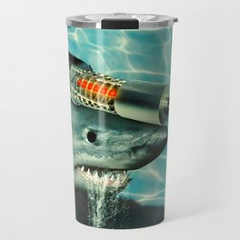 James Bond and Austin Powers Mash Up: A Shark with a Friggin Laser Beam Attached to it's Head Travel Mug