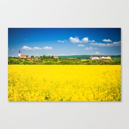 Rape flower field in Transylvania Canvas Print