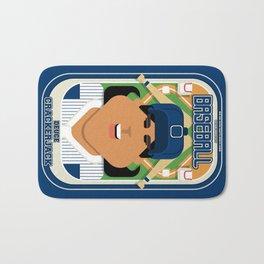 Baseball Blue Pinstripes - Deuce Crackerjack - Indie version Bath Mat
