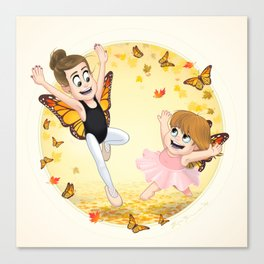 Ballet and Butterflies Canvas Print