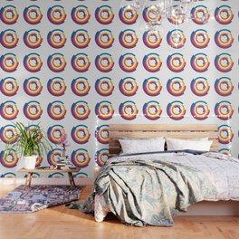 Bauhaus inspired design in a ultraviolet palette Wallpaper