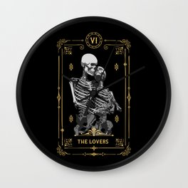 The Lovers VI Tarot Card Wall Clock
