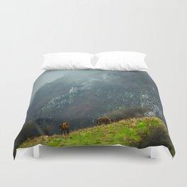 Mountains landscape Duvet Cover