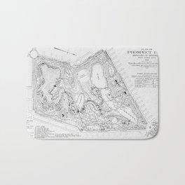 Vintage Map of Prospect Park (1901) Bath Mat