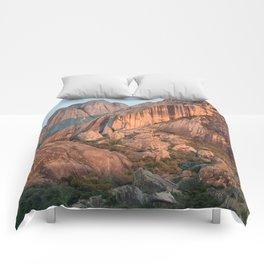 Sunset on Madagascar mountains Comforters