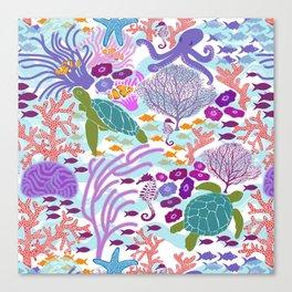 Rush Hour at the Reef - Ocean Life - Sea Life - Marine - beach  Canvas Print