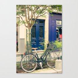 Bicycle in the Marais, Paris Canvas Print