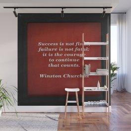 Winston Churchill Success Quote Wall Mural