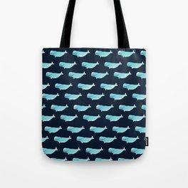 Watercolor Beluga pattern Tote Bag
