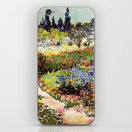 Vincent Van Gogh Flowering Garden iPhone Skin