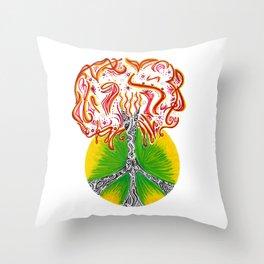 Peace Tree Throw Pillow