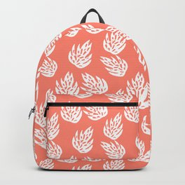 Tropical leaf pattern monstera leaves minimal nature gifts dorm college art coral Backpack