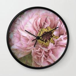 summertime peony Wall Clock
