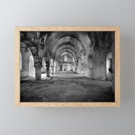 A derelict churh in Northern Cyprus Framed Mini Art Print
