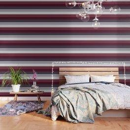 scandinavian moody winter fashion dark red plum burgundy grey stripe Wallpaper
