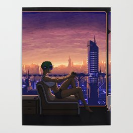 Dystopian Gamer Poster