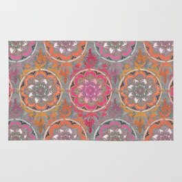 Hot Pink, Magenta and Orange Super Boho Medallions Rug