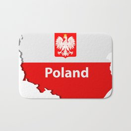 Poland map Bath Mat