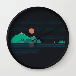 Island Folk Wall Clock