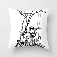 brompton Throw Pillows featuring Brompton by Swasky