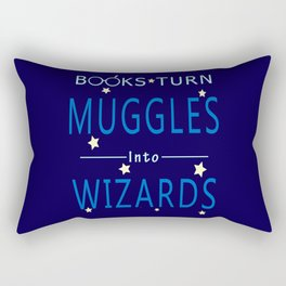 POTTER - BOOKS TURN MUGGLES INTO WIZARDS Rectangular Pillow