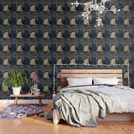 Girl sleeping under magnolia flowers Wallpaper