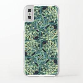 Green Herb Garden, Dill Flowers Clear iPhone Case