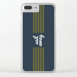 Sail Away Nautical Print Clear iPhone Case