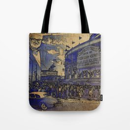 Harry Caray and Wrigley Field of yesterday Tote Bag