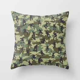 Skater Camo WOODLAND Throw Pillow