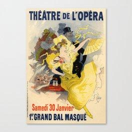 Belle Epoque vintage poster, French Theater, Theatre de L'Opera Canvas Print