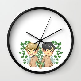 Bamjae Flowers Wall Clock