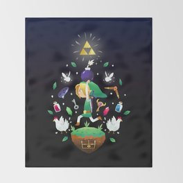 The Hero Of Time Throw Blanket