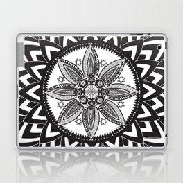 BLACK AND WHITE MANDALA  Laptop & iPad Skin