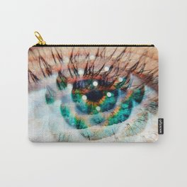 Green Eyes Hypnotize Carry-All Pouch