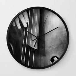 Jazz Bass Poster Wall Clock