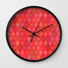 Geometric red pattern Wall Clock