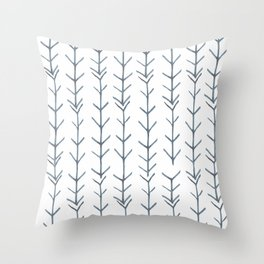 Twigs and branches freeform gray Throw Pillow