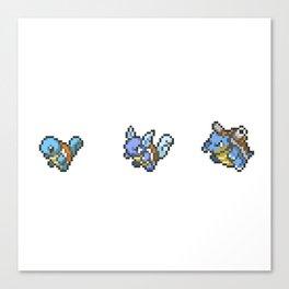 Blue Evolutions Squirtle/Wartortle/Blastoise Canvas Print