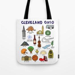 Cleveland Ohio Icons Tote Bag