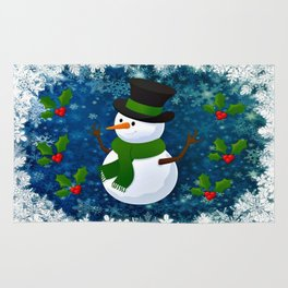 Snowman - Happy Holidays Rug