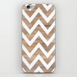 woodgrain cheveron iPhone Skin