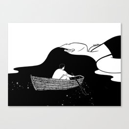 Rowing to you Canvas Print