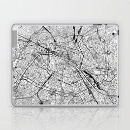 Paris White Map Laptop & iPad Skin