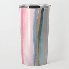 Watercolor stripe Travel Mug
