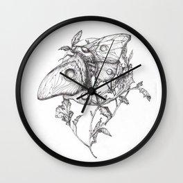 Moon Moth Wall Clock