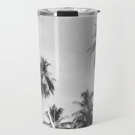 Palms Trees on the San Blas Islands, Panama - Black & White Travel Mug