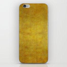 """Gold & Ocher Burlap Texture"" iPhone Skin"