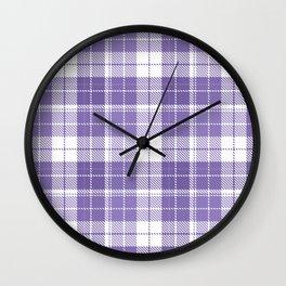 Ultra Violet Tartan Pattern Wall Clock